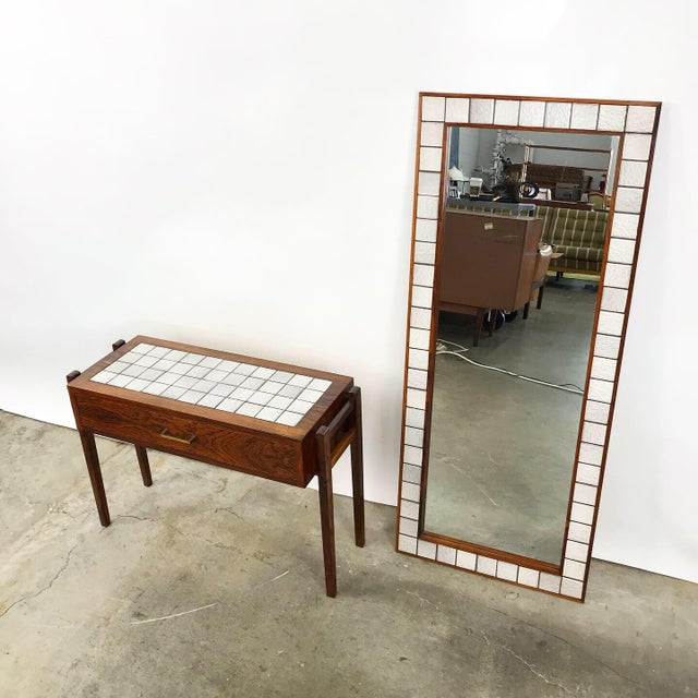 Danish Rosewood & Tile Vanity For Sale - Image 4 of 11