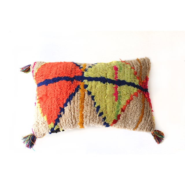 Moroccan Azilal Rug Pillow - Image 2 of 3