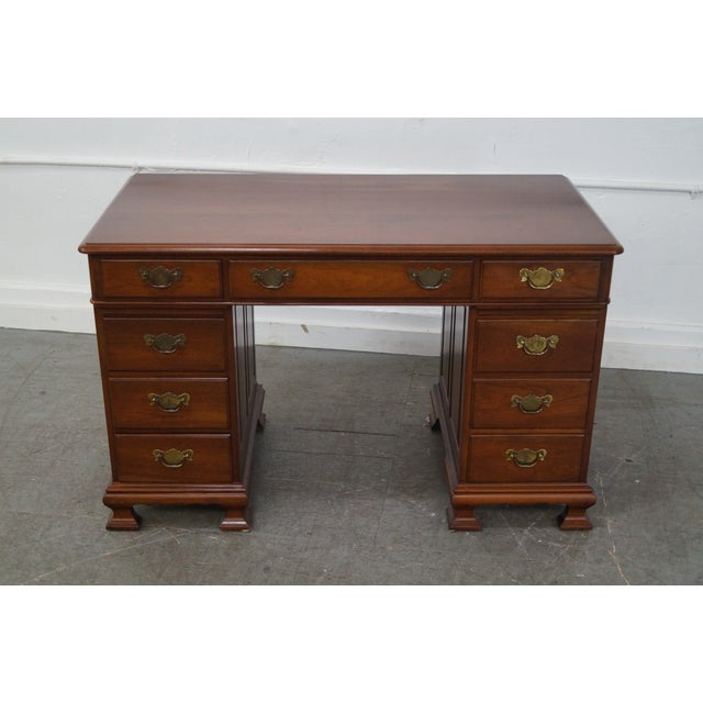 Pennsylvania House Solid Cherry Chippendale Desk Image 3 Of 10