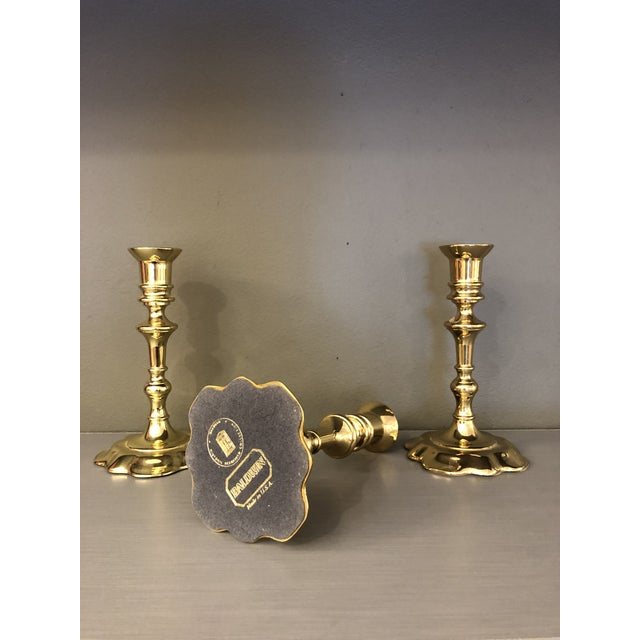 Mid-Century Modern Mid Century Brass Candleholders by Baldwin - Set of 3 For Sale - Image 3 of 9