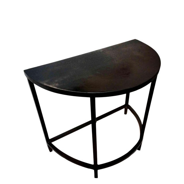 Metal Demilune or Half Moon Table by Invictus Steelworks For Sale