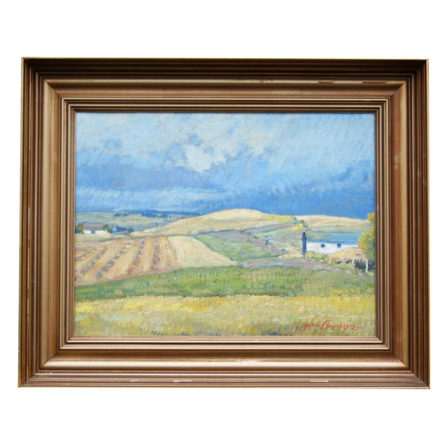 Summer Landscape Painting by Johan Jacobsen - Image 1 of 5