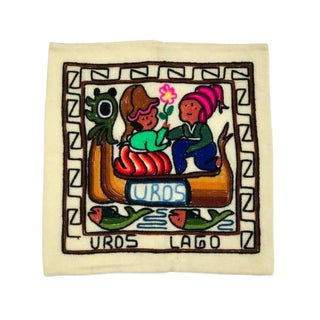 Peruvian Embroidered Pillow Cover For Sale