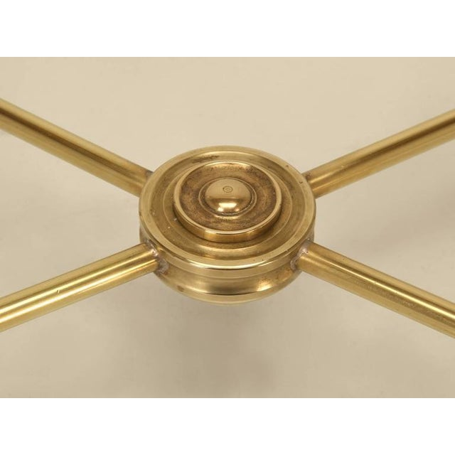 1960s Mid-Century Modern Brass End Table with Paw Feet For Sale - Image 5 of 10