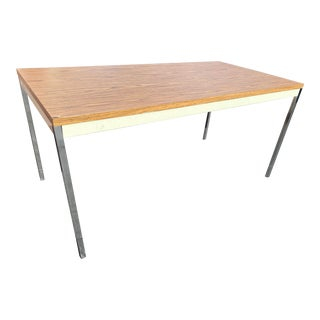1980s Vintage Steelcase Metal Writing Desk For Sale