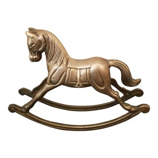 Brass Rocking Horse Figurine For Sale