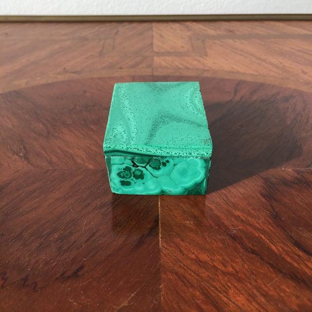 Malachite Trinket Box For Sale - Image 4 of 8