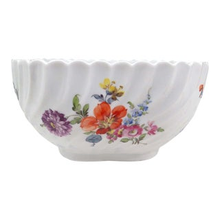 Vintage Nymphenburg Dresden Flowers Serving Bowl