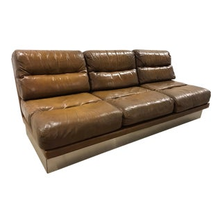 1970s Jacques Charpentier French Sofa For Sale
