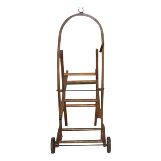 Bentwood Cart With Cast Iron Wheels For Sale