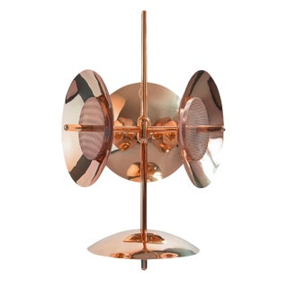 Modern Copper Signal Chandelier 3s+1 For Sale