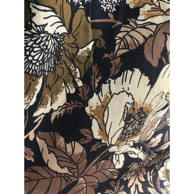 "Boho Chic ""Brady Bunch Style"" Floral Pattern Drapery Short Panel For Sale - Image 3 of 6"