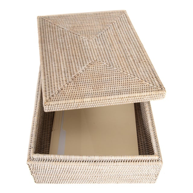 Boho Chic Artifacts Rattan Storage Box With Lid For Sale - Image 3 of 6