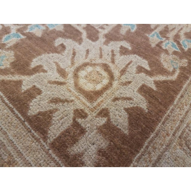 "Gothic Kafkaz Peshawar Jasmine Ivory & Brown Wool Rug - 9'11"" x 13'9"" For Sale - Image 3 of 7"