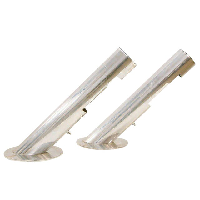 1970 Mid-Century Paul Mayen for Habitat Inc Polished Aluminum Lamps - A Pair For Sale