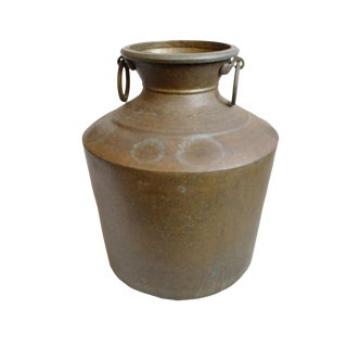 Large Antique Brass Pot For Sale