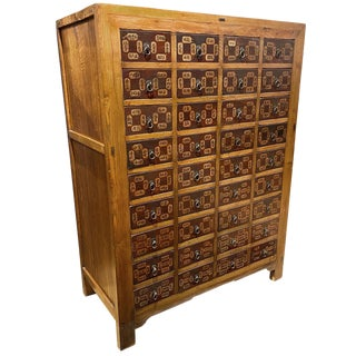 Antique Chinese 36-Drawer Apothecary Cabinet For Sale