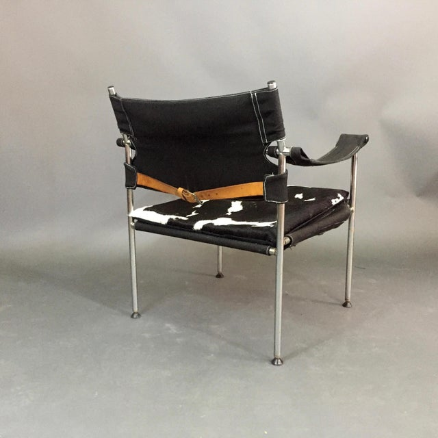 "Silver ""Irafas"" Safari Chair, Sigurd Ressell and Cato Mansrud, Norway, 1965 For Sale - Image 8 of 12"