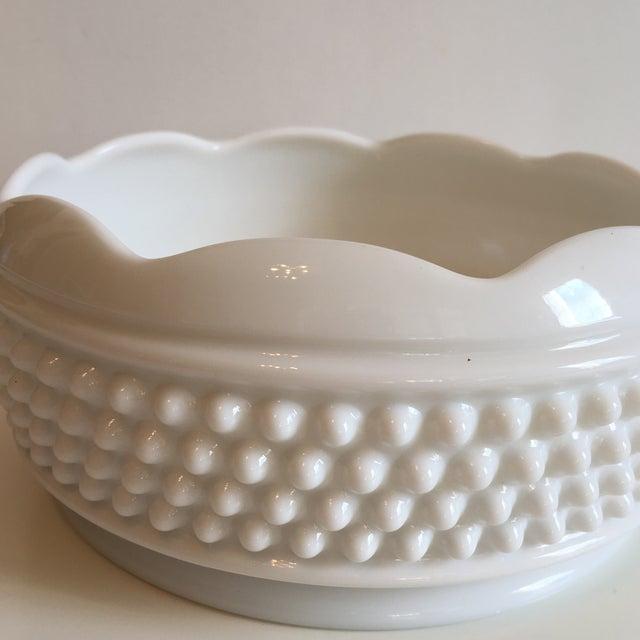 Vintage Hobnail Milk Glass Bowl For Sale - Image 5 of 7