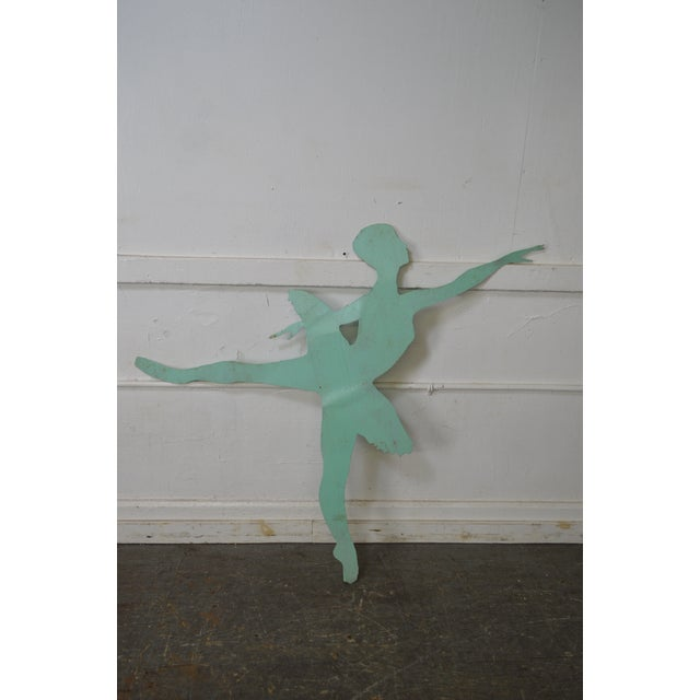 Mid Century Modern Large Dancing Ballerina Metal Garden Sculpture (B) For Sale - Image 9 of 11