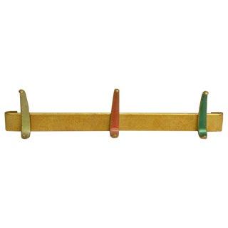 1960s Multi-Color Aluminum Hook Rack For Sale