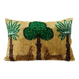 Image of Silk Ikat Velvet Pillow, Animal Lumbar Pillows For Sale