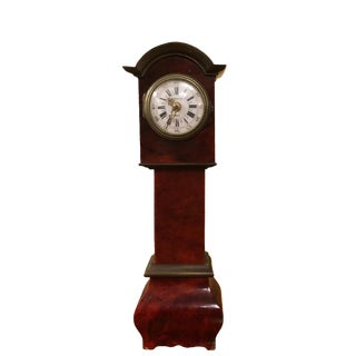18th Century Style Antique German Miniature Tall Case Clock For Sale