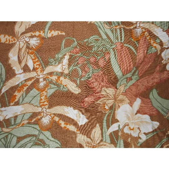 Vintage Luther Travis Screen Print Home Decor Fabric, 1970s For Sale - Image 5 of 7