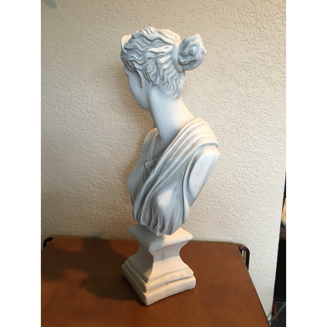 1980s 1980s Diana Goddess of the Hunt Large Scale Bust Sculpture For Sale - Image 5 of 10
