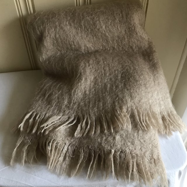 Australian Mohair Fringed Throw - Image 4 of 9