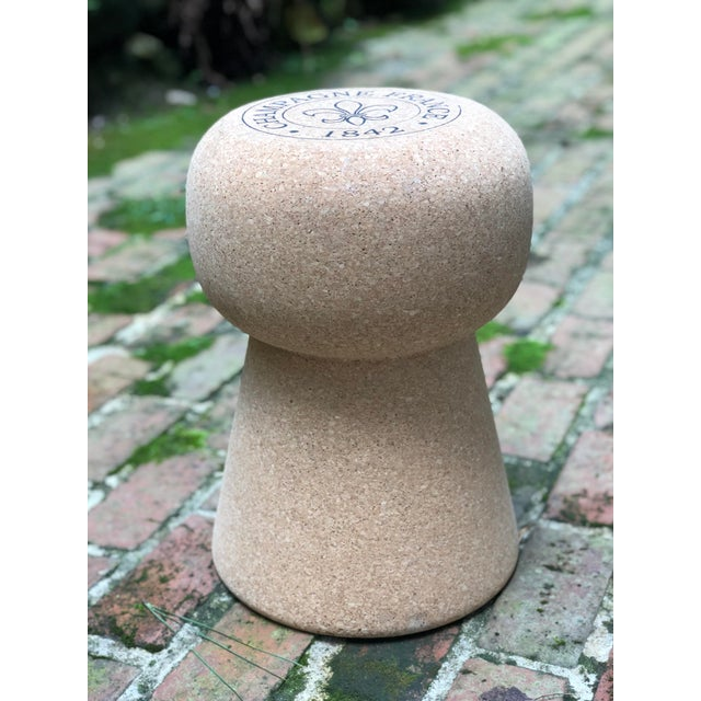 Champagne Cork Side Table For Sale - Image 4 of 10