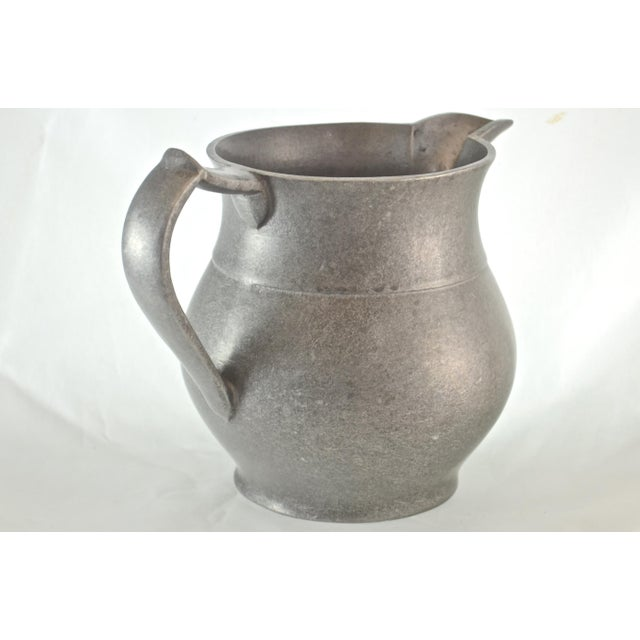 Americana Vintage Pewter Tavern Pitcher For Sale - Image 3 of 9