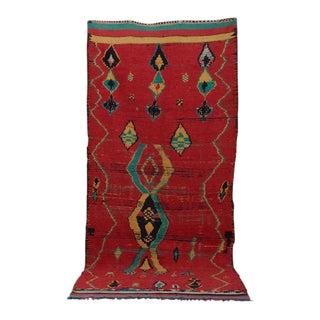 Ruby Moroccan Tribal Rug - 4′9″ × 10′6″