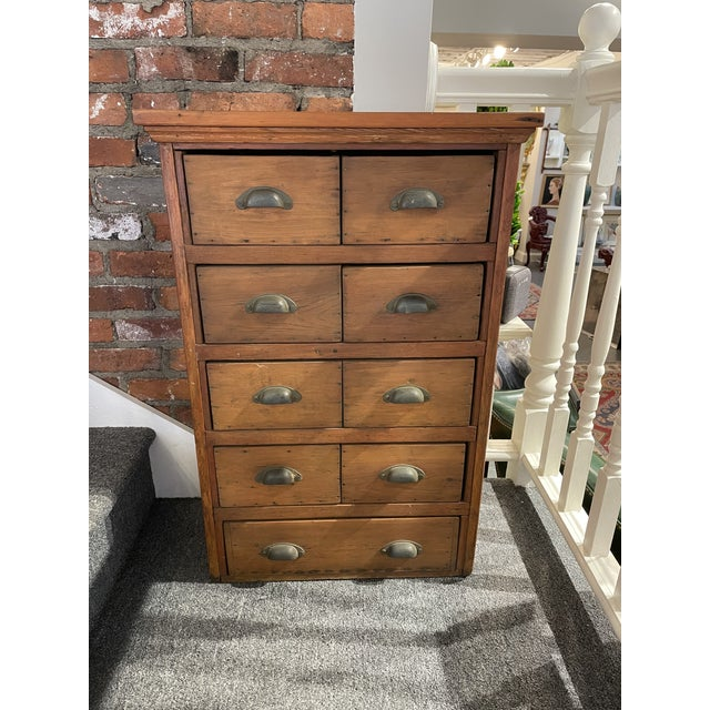 17th Century Antique Knotty Pine Apothecary Chest For Sale - Image 5 of 5