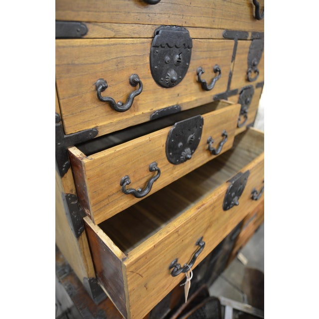 19th Century Japanese Tansu With Hand Forged Hardware For Sale - Image 11 of 11