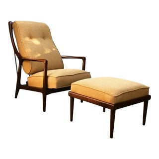 Jack Van Der Molen Mid-Century Lounge Chair and Ottoman For Sale