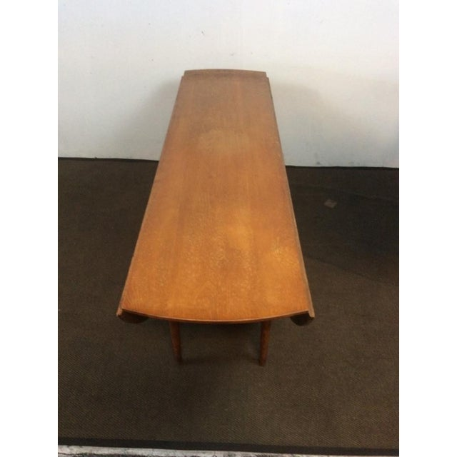 Mid-Century Modern Carved Drop-Leaf Dining Table - Image 3 of 5