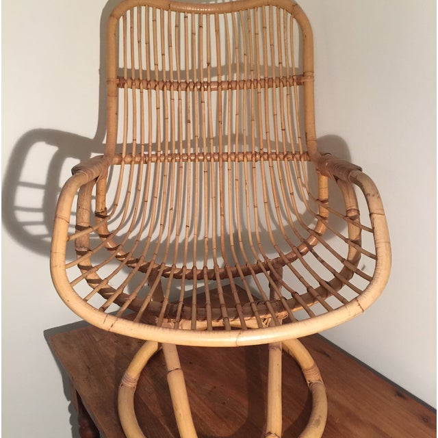 Mid-Century Rattan Chair - Image 3 of 11