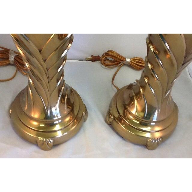 Vintage Rembrandt Art Deco Style Brass Lamps - Pair - Image 6 of 9