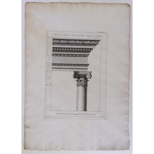 "English Traditional 1764 British ""Ruins of the palace of the Emperor Diocletian at Spalatro"" Engraving by Robert Adam For Sale - Image 3 of 6"