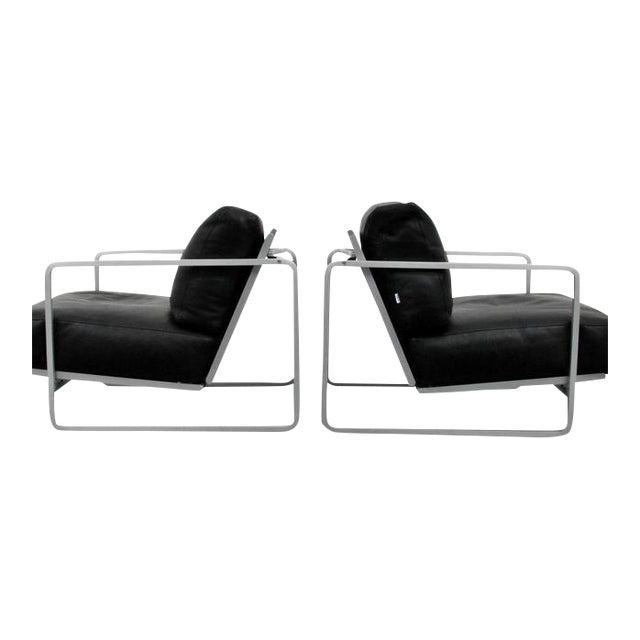 Pair of Zonatta Leather Lounge Chairs by Alfredo W. Häberli & Christophe Marchand - Image 1 of 8