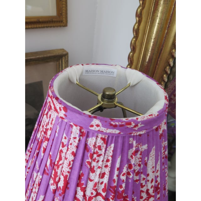 Contemporary Custom Maison Maison Gathered Lamp Shades For Sale - Image 3 of 5