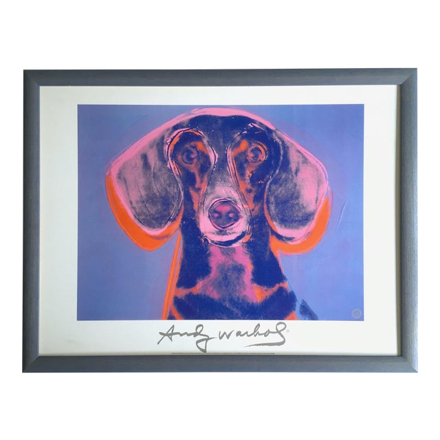"Andy Warhol Foundation Vintage 1998 Rare Lithograph Print Framed Poster ""Portrait of Maurice"" 1976 For Sale"
