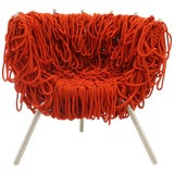 Image of Vermelha Chair by Fernando and Humberto Campana for Edra, Red Rope, Aluminum For Sale