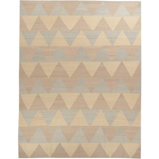 Persian Wool Flat Weave Rug - 9′ × 11′11″ For Sale