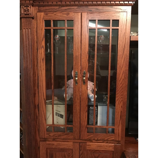 Amish Lighted 5-Piece Wall Unit - Image 3 of 11