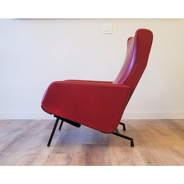 """1960s Vintage Pierre Guariche """"Trelax"""" Reclining Lounge Chair For Sale - Image 5 of 12"""