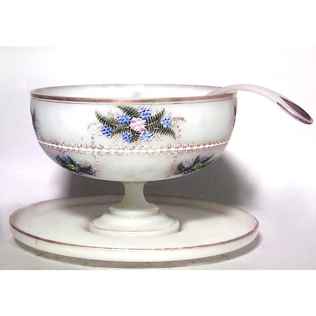 Victorian French Victorian Opaline Punch Bowl Set For Sale - Image 3 of 3