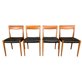 Vintage Mid Century Svegards Markaryd Danish Modern Teak Dining Chairs- Set of 4 For Sale