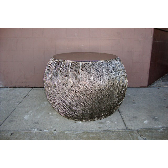 1980s Arts and Crafts Wire Side Table For Sale - Image 13 of 13